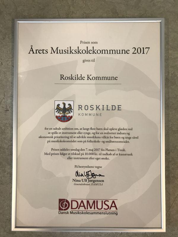 Årets musikskolekommune diplom