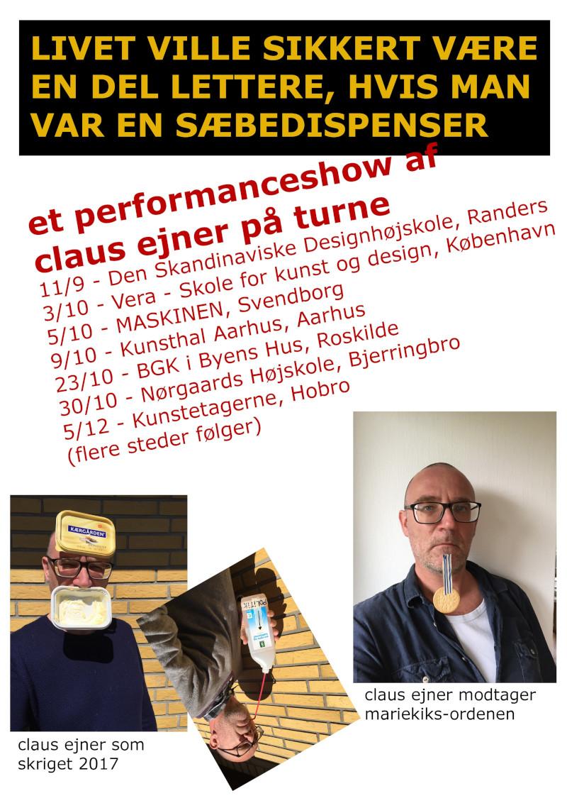 Plakat claus ejner performanceshow